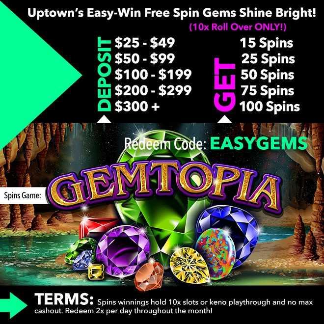 Gemtopia Free Spins