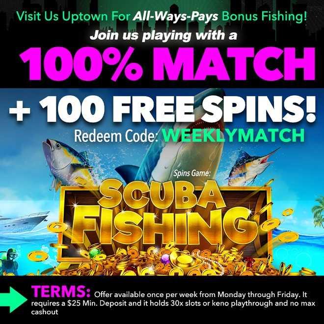 100% Match + 100 Free Spins