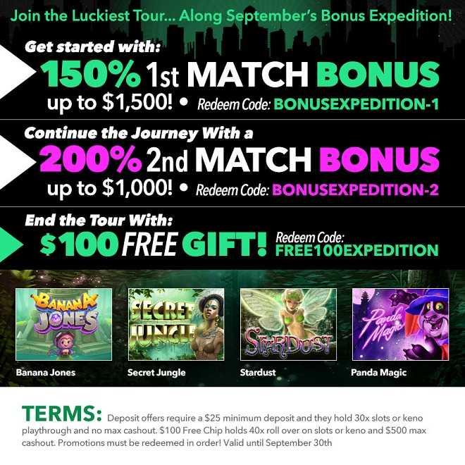 Uptown Aces $100 Free Bonus