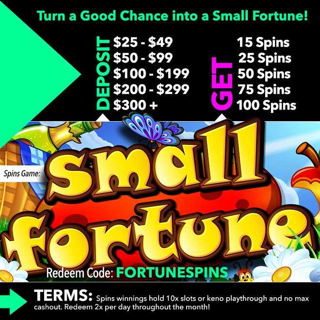 Small Fortune Slot Free Spins