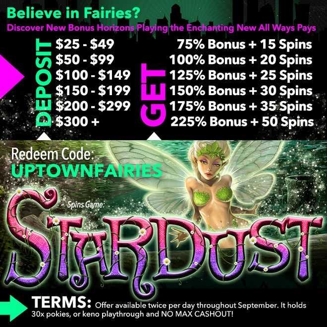 Stardust Free Spins Bonus