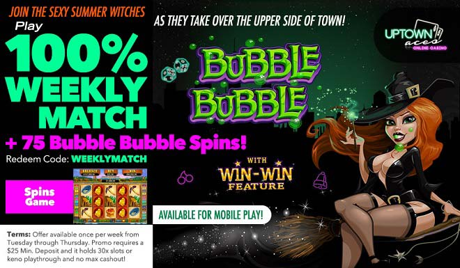 Uptown Aces Weekly Match Bonus