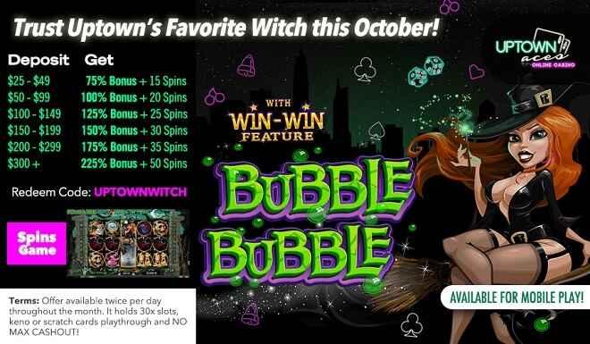 Uptown Aces Bubble Bubble Bonus