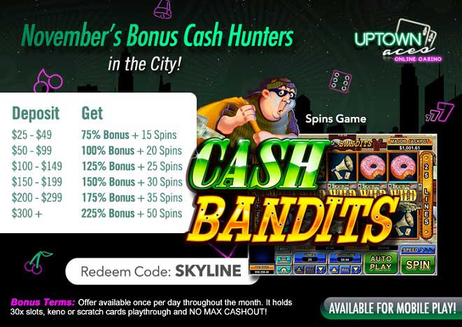 November Bonus Cash Hunter