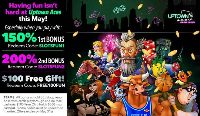 Uptown Aces Free Chip Bonus