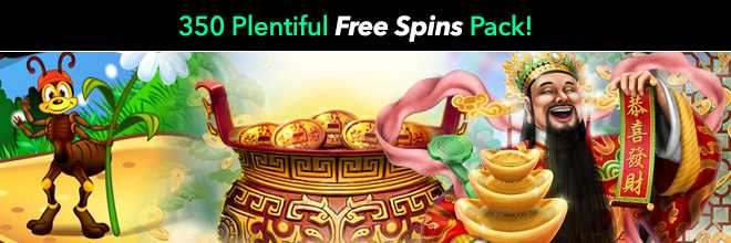 350 Plentiful Free Spins Pack!