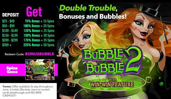 Double Trouble, Bonuses and Bubbles!