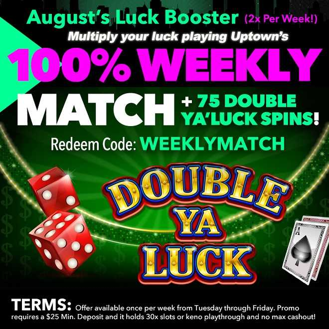 Double Ya Luck Weekly Match