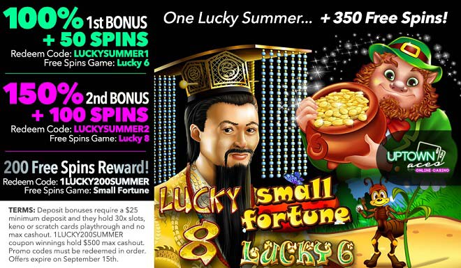 Lucky Uptown Summer Times With 350 Free Spins