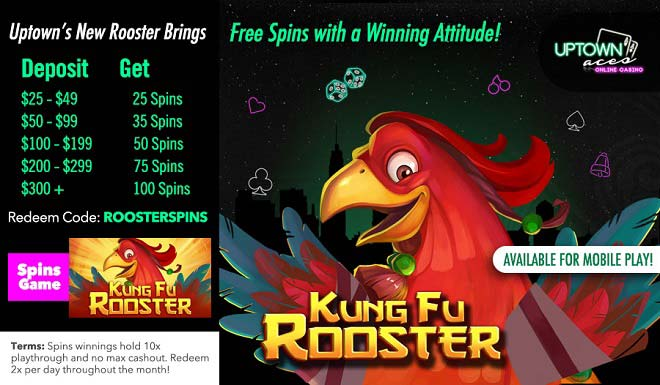 Uptown Aces Free Spins Bonus